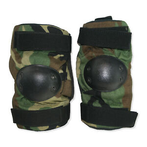 NEW Pair of Genuine US Military Woodland Tactical Elbow Pads S/M/L USA