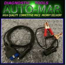 OBD II EOBD ECU Memory Saver Battery Replace Changing with Alligator Clips