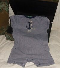 Janie and Jack Anchor Harbor Blue and White Romper Shorts Size 12-18 months