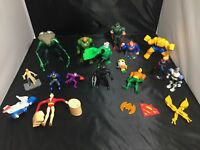 Lot of 15  Marvel + DC Comics Action Figures + Extras