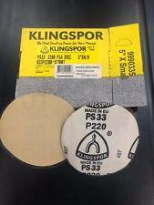 100 Klingspor 5 Disk Psa Solid Sanding Disks 220 Grit Closeout Price