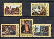 RUSSIA - USSR 1976  PAINTINGS   SG 4494 to 4498  MNH   Thematic FINE ART