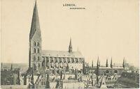 """D LÜBECK, ca. 1910, ungebr. s/w AK """"Marienkirche"""""""