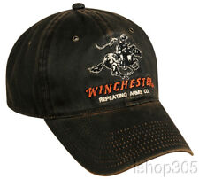 WINCHESTER Dark Brown Hunting Hat Target Shooting Rifles Firearms Baseball Cap