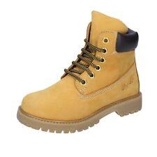 scarpe bambina DIDI BLU 33 EU stivaletti giallo t.moro pelle scamosciata AJ956-L