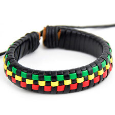 fashion Multicolor Handmade Rasta Bracelet adjustable Bangle S-361