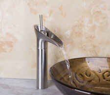 Bathroom Kitchen One Handle Nickel Brush Basin / Sink Faucet Tap Water Mixers