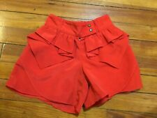 Kc Parker By Hartstrings Girls Shorts Ruffle Front Red Size 8