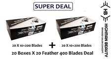 Feather Artist Club PB20 Pro 20PcsX20BOX  400 Blades  SUPER DEAL MADE IN JAPAN