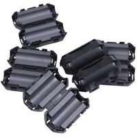5 Pcs Clip On EMI RFI Noise Ferrite Core Filter for 7mm Cable I2Y8