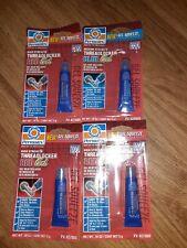 lot of 4 Permatex Threadlocker Blue Gel Medium Strength .18 OZ #24005 USA