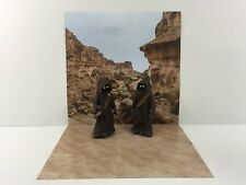 "custom star wars tatooine desert backdrop ikea detolf display 12"" sideshow etc"