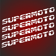 4x SUPERMOTO Aufkleber 14x1.2cm Felgenaufkleber Racing 690 990 Sticker smc mz