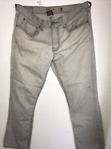 RSQ London Skinny Distressed Men's Jeans Gray/White StItched Dark Gray 36Wx30L