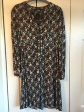 M&s Collection taille 12 fleuri Pussybow Robe Patineuse Noir Rose Orange Blanc Dots