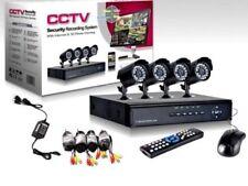 KIT VIDEOSORVEGLIANZA h264 CCTV 4 CANALI TELECAMERA INFRAROSSI+DVR E ALIMENTATOR
