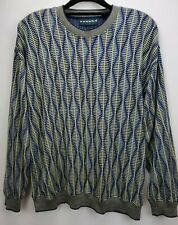 Vintage Tundra Canada Mens Sweater Medium Grandpa Coogi Cosby Style Blue Yellow