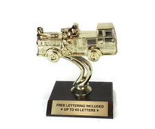 Fire Engine Trophy- Fireman- Firefighter- Crew- Desktop Series- Free Lettering
