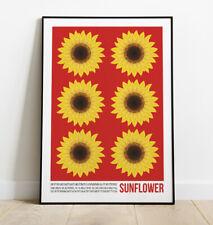 Sunflower Art Print, Pop Art Sunflower Print, Interior Design, Contemporary Art