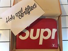 Louis Vuitton x Supreme Pochette Jour GM Epi Red Leather