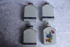 4 Teedosen - Porzellan - Fürstenberg - mit Blumendekor und Ähren - mit Goldrand