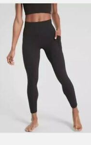 ATHLETA Salutation Stash Pocket II 7/8 Tight Leggings | Black sz Small tall