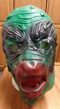 The Creature Of The Black Lagoon Vinyl Rubber Halloween Mask, Vintage!  Monster