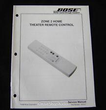 Original Bose Zone 2 Theater Remote Control Service Manual