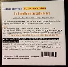 Petsneedmeds 2 in 1 Monthly Oral Flea capsules for Cats Kill & Control fleas #18