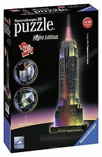 Ravensburger 3D puzzle night Édition 216 pièces + 3 luci LED 48,5 cm Empire