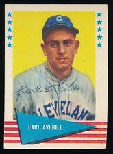 1961 Fleer Autographed -#5 Earl Averill (Cleveland Indians) *Hof* (d.1983)