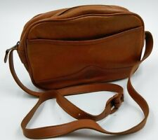 UNISA Made in Uruguay Beige Leather Crossbody Purse Handbag Belt Buckle strap