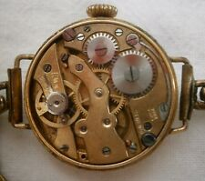 Victorian/Edwardian ladies rolled gold dress watch for spares/repair, exp strap