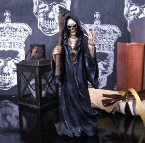 Nemesis Now Death Wish 22cm Gothic Gift Skull Skeleton Hooded Reaper Scythe