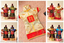 Wholesale 5Pcs Chinese Handmade Classic Cloth Style Silk Wine Bottle Covers