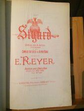 Ernest Reyer Sigurd partition chant piano ancienne reliée éditions Heugel opéra