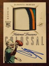 DeVante Parker 2015 National Treasures Colossal 4 color AUTO ROOKIE PATCH #D 25