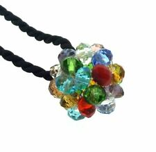 Crystal Silver Plated Chakra Costume Necklaces & Pendants