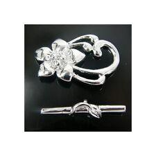 Lily de palanca de plata chapado en la fabricación de joyas encontrar Broche X 10 Set K5