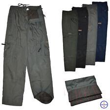 Herren Cargohose mit Innenfutter Cargo Thermo Hose Pants gefüttert Arbeitshose
