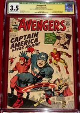 CGC SS Avengers issue 4 signed by STAN LEE!  1st Silver Age Captain America!