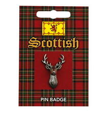 Scottish Stag Pewter Lapel Pin Badge