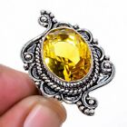 Aaa+++ Citrine Gemstone 925 Sterling Silver Jewelry Ring s.7 S264
