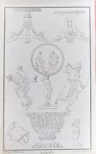 2-13-39 Gravure 19e modèles de bas relief gravé par Pierre Nicolas Beauvallet
