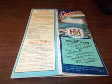 1957 Ontario Province-issued Vintage Road Map