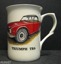 1 TRIUMPH TR6 car Fine Bone China Mug Cup Beaker (red)