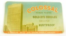 Colossal Nickel Plated Gold Eye Needles Deluxe Rustproof Needle Case