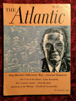 ATLANTIC May 1948 Eudora Welty George Santayana Louis Bromfield W. B. Ready