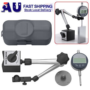 0-25.4 mm Electronic Digital Dial Indicator Gage Gauge & Magnetic Base