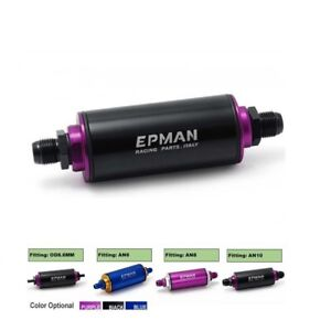 Aluminum High Flow (8.6MM/AN6/AN8/AN10) Fuel Filter With 100 Micron Element